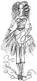 Модный конкурс рисунка «Раскрась модель»