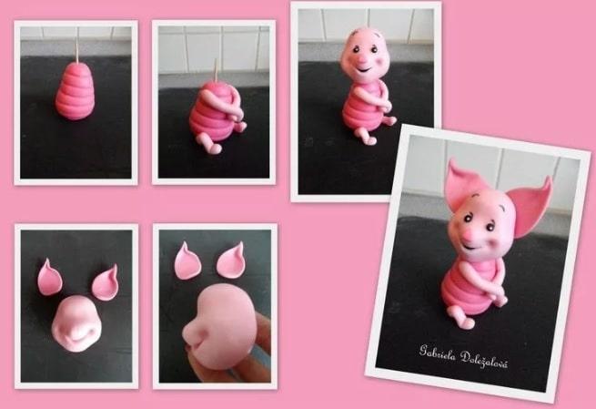Свинка из соленого теста своими руками пошаговая инструкция