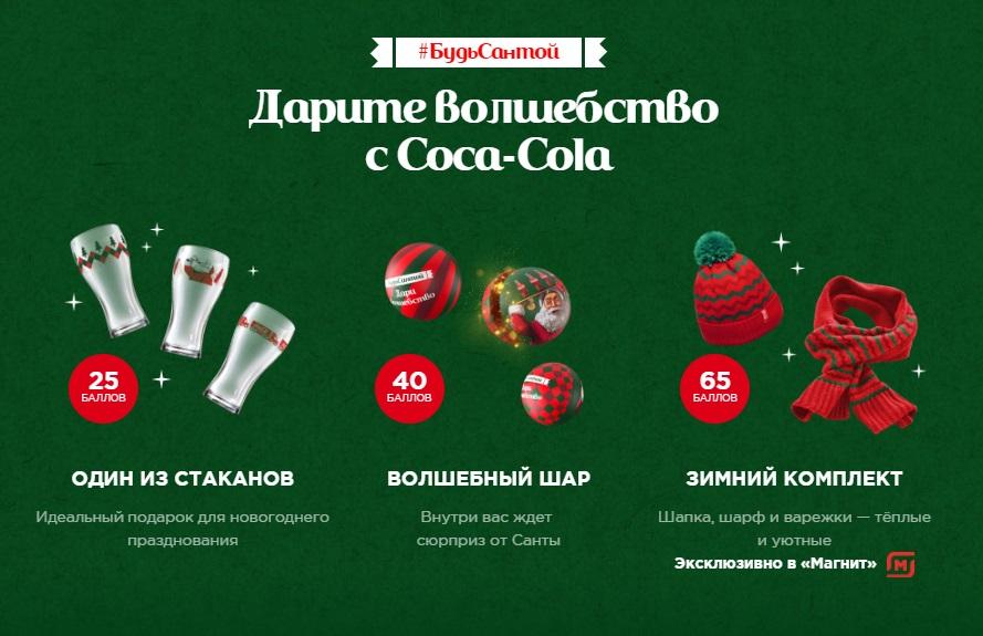 Кока-Кола акция 2019-2020 новогодняя Какие призы