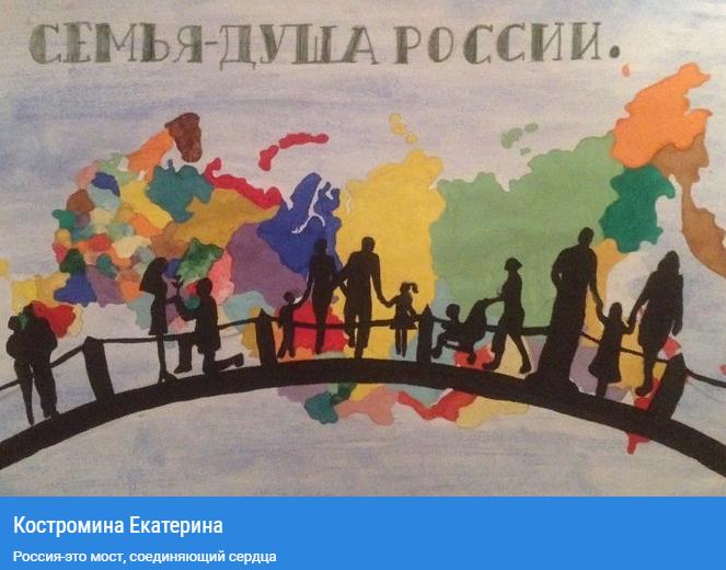 Всероссийский конкурс рисунка «Семья - душа России»